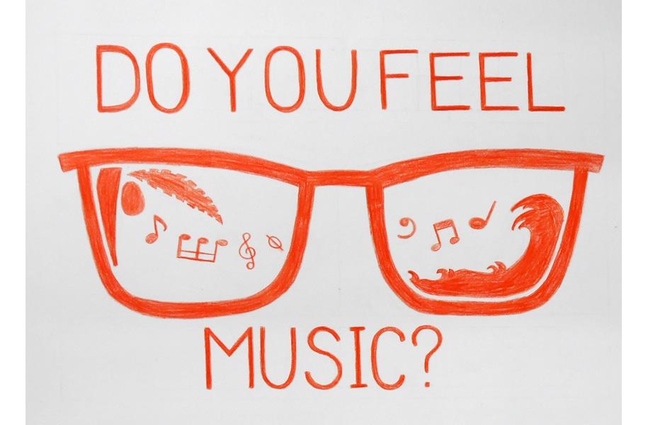 エントリーNo.7「DOYOUFEELMUSIC?」:今回は音楽・夏フェスがテーマということで「DOYOUFEELMUSIC?」というキャッチフレーズを入れました。島に流れる音楽を感じてる?って意味で受け取ってほしかったので、夏を表すサングラスの中に波とヤシの木を描いて、音符を散りばめてみました。工夫した所はなるべく左右対称になるようにしたところです。