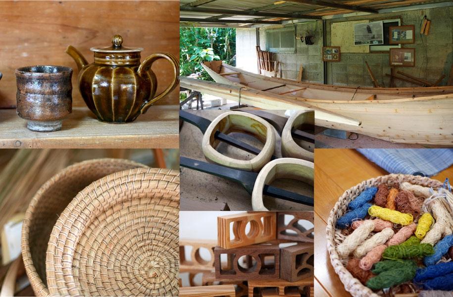 サバニ・陶器・木工品・織物・民具