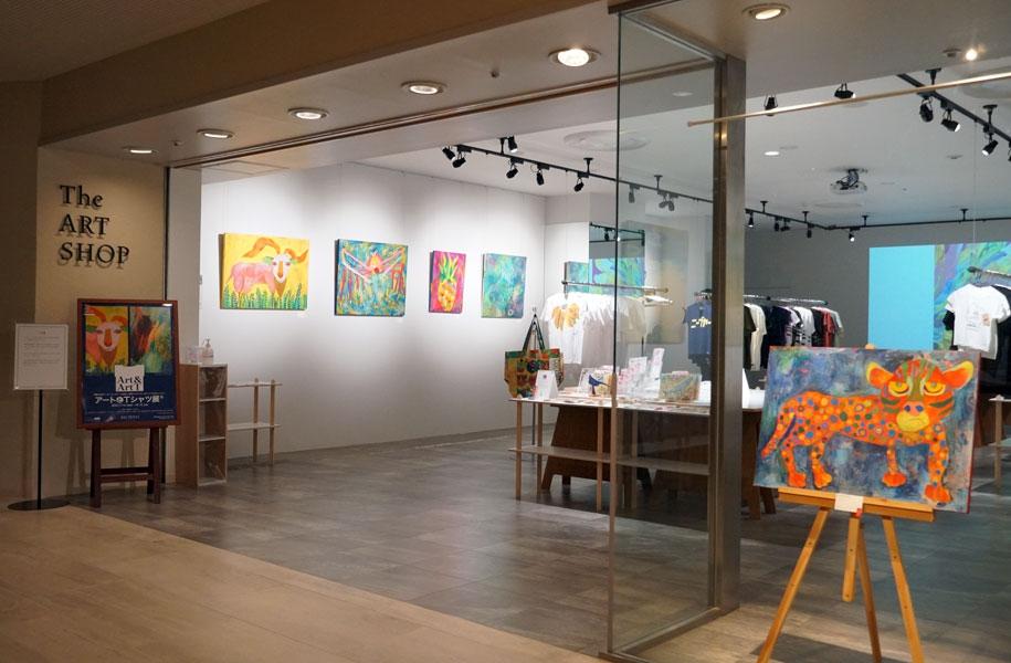 アートホテル石垣島1FTheARTSHOPギャラリーにて「アートでアートとTシャツ展」開催中