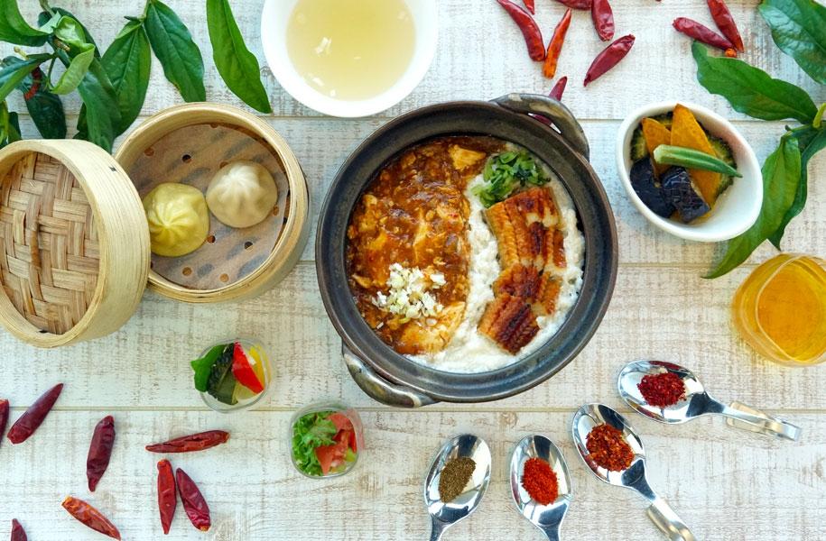 鰻と麻婆豆腐の二色丼セット 1,550円(税込)