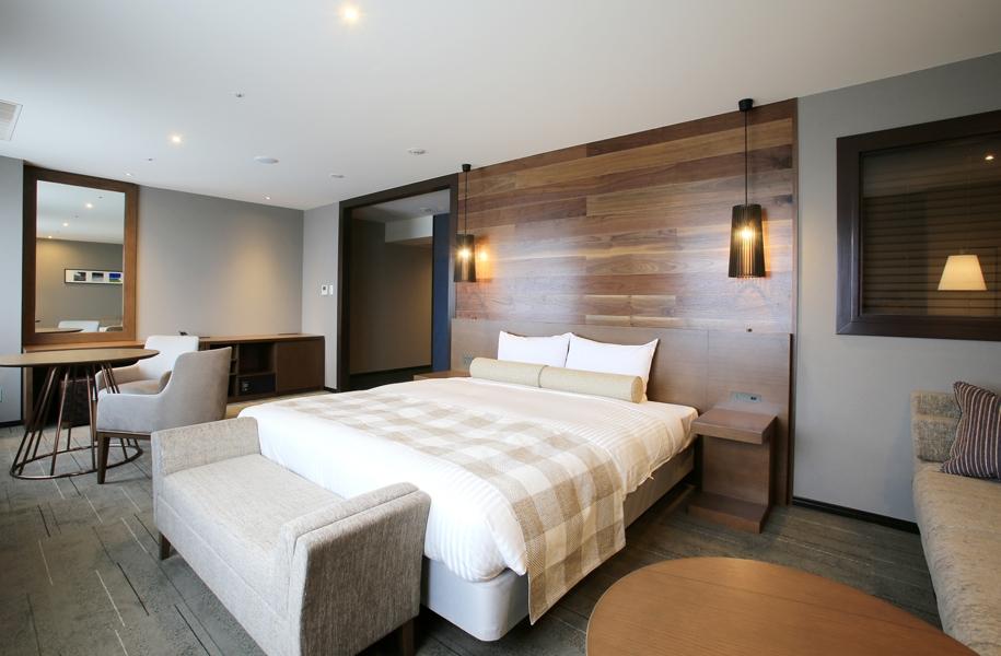 クィーンサイズのベッドのお部屋