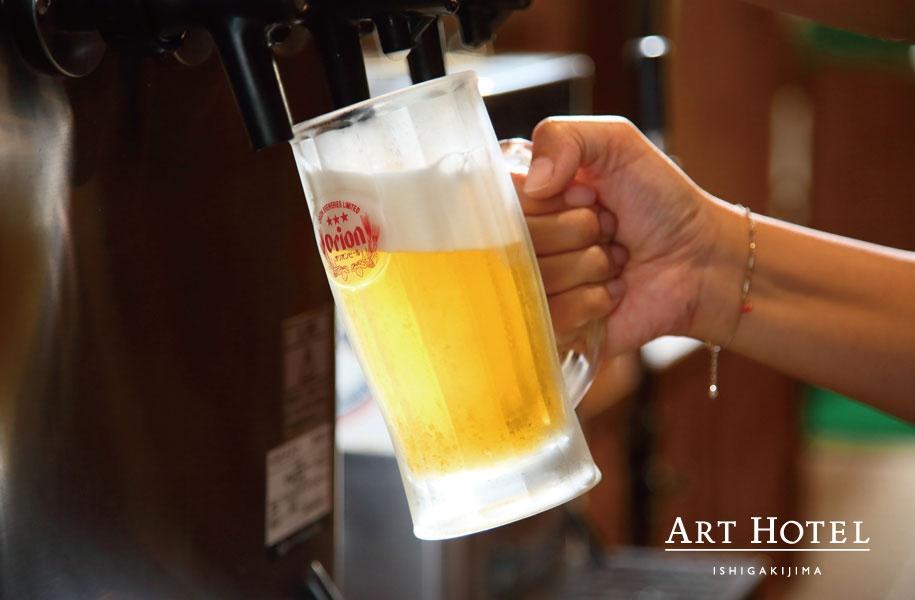 飲み放題メニューも充実。キンキンに冷えたグラスが嬉しい!とコメントをいただくことも。