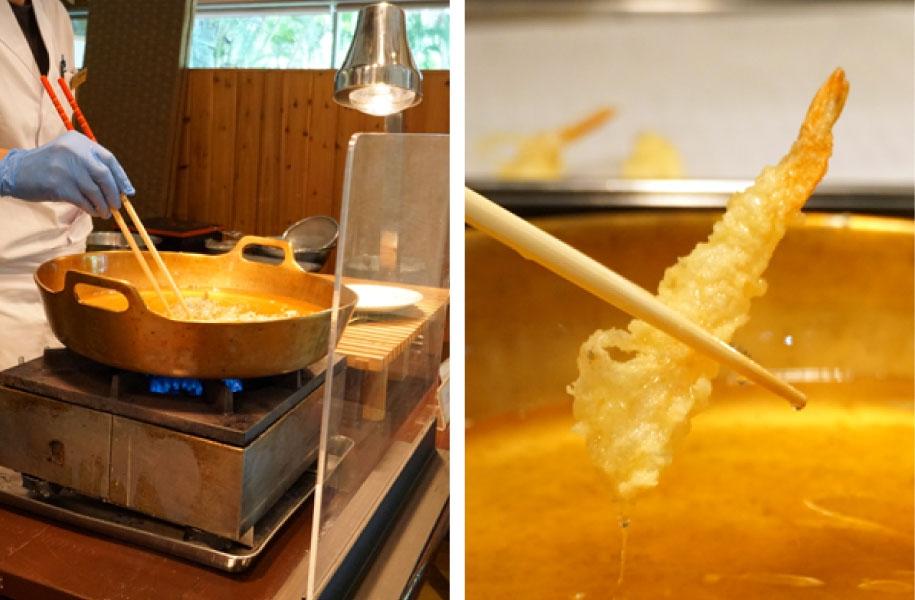揚げたての天ぷらもお楽しみいただけます