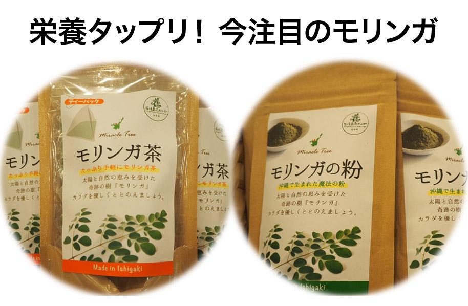 最近注目度UPの「モリンガ」。石垣島の太陽で育ったモリンガは栄養満点!