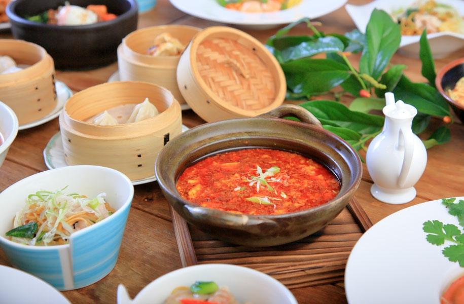 「ゆし豆腐の麻婆豆腐」はじめ、ホテルの中華料理の美味しさは島では定番!