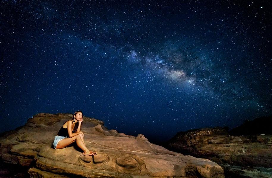 どこの星?地球です。石垣島です。こんなひと味もふた味も違う幻想的なポートレートを撮りたい方は是非!